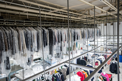 Rack「View of an industrial laundry service with no people」:スマホ壁紙(11)