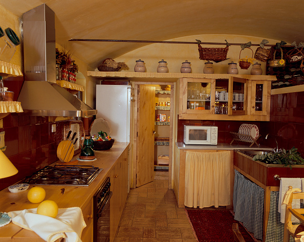 Ceiling「View of an organized kitchen」:写真・画像(4)[壁紙.com]