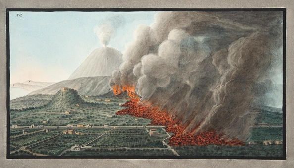 Hand Colored「View Of An Eruption Of Monte Vesuvius On 23Rd December 1760 And Ended 5Th January 1761」:写真・画像(16)[壁紙.com]