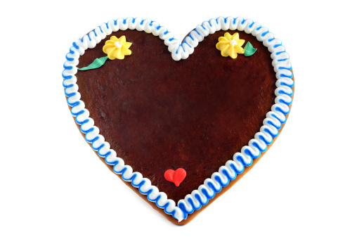 Souvenir「copyspace gingerbread cookie heart」:スマホ壁紙(1)