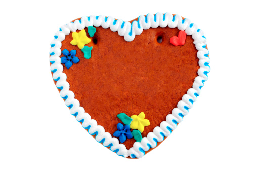 Gingerbread Cookie「copyspace gingerbread cookie heart」:スマホ壁紙(2)