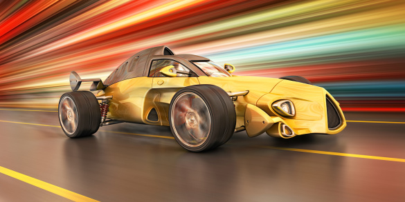 Sports Car「race car in the city」:スマホ壁紙(9)