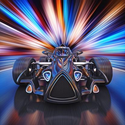 Sports Car「race car in the city」:スマホ壁紙(12)