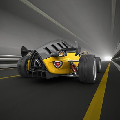 Hot Rod Car「race car in tunnel」:スマホ壁紙(15)