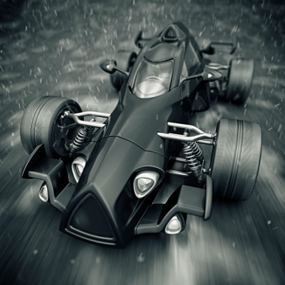 Hot Rod Car「race car in rain」:スマホ壁紙(8)