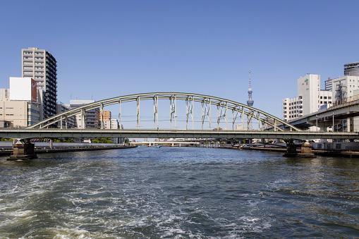 Japan「JR Soubu Line Bridge Across the Sumida River, Tokyo, Japan」:スマホ壁紙(10)