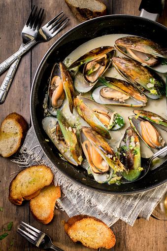 はまぐり料理「新鮮な牡蠣 soupe」:スマホ壁紙(3)