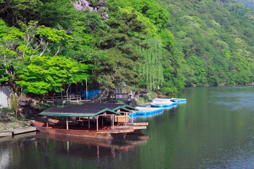 京都市「Houseboats at Oi River」:スマホ壁紙(10)