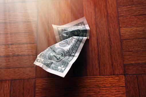 Better fortune「old wrinkled American one dollar bill」:スマホ壁紙(16)