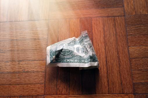 Better fortune「old wrinkled American one dollar bill」:スマホ壁紙(17)