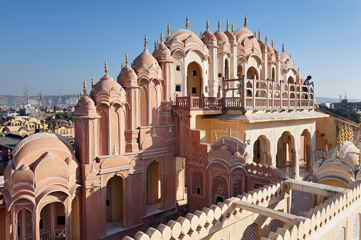 Rajasthan「Hawa Mahal or Palace of the Winds, Jaipur, Rajasthan, India」:スマホ壁紙(12)