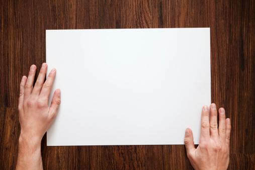 Hand「Blank Paper」:スマホ壁紙(15)