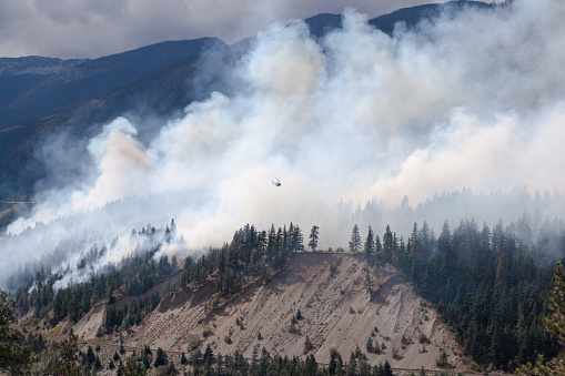 Deforestation「Helicopter flying over Forest Fire in Lytton, British Columbia, Canada」:スマホ壁紙(15)