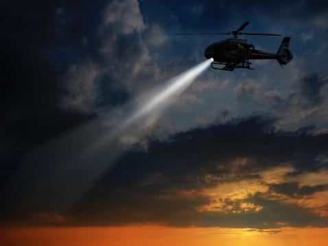 Helicopter「ヘリコプターでの夕暮れ」:スマホ壁紙(13)