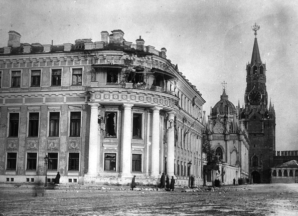 October「Nicholas Palace In The Moscow Kremlin Damaged During The Russian Revolution 1917 1917-1918」:写真・画像(1)[壁紙.com]