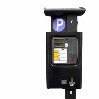 Parking Meter「Close up of a parking meter and pay sign」:スマホ壁紙(1)