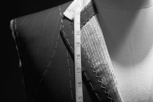 Sewing「Close up of a suit and measure tape of a tailor」:スマホ壁紙(9)