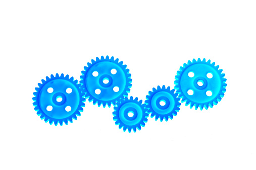 Gear「Close up of plastic gear wheels on white background」:スマホ壁紙(12)