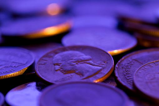 米国硬貨「コインのクローズ アップ」:スマホ壁紙(12)