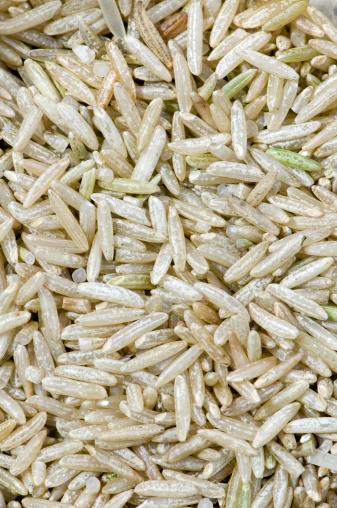 Basmati Rice「Close up of uncooked brown basmati rice」:スマホ壁紙(9)