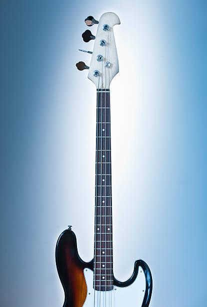 Close up of electric guitar on blue backgrounds:スマホ壁紙(壁紙.com)