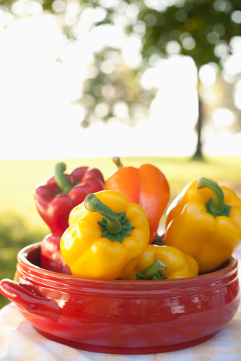 Yellow Bell Pepper「Close up of bell peppers in bowl」:スマホ壁紙(4)