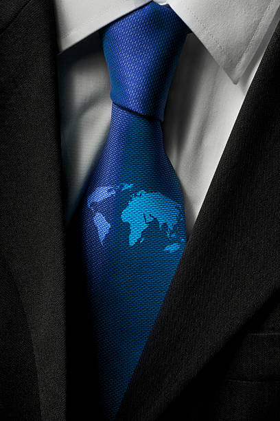 Close up of world map on a businessman's tie:スマホ壁紙(壁紙.com)
