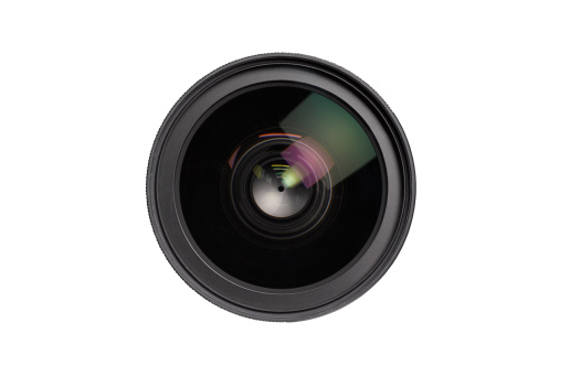 Security System「Close up of lens on white background」:スマホ壁紙(3)