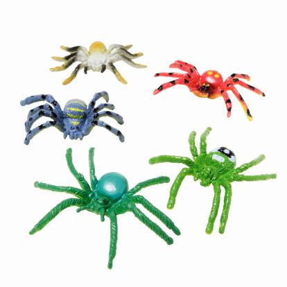 ハロウィン「Close up of toy plastic spiders」:スマホ壁紙(0)
