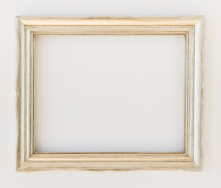 Silver Colored「Close up of empty picture frame, studio shot」:スマホ壁紙(5)