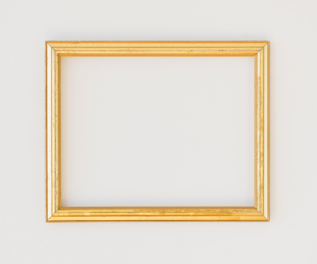 Gold Colored「Close up of empty picture frame, studio shot」:スマホ壁紙(17)