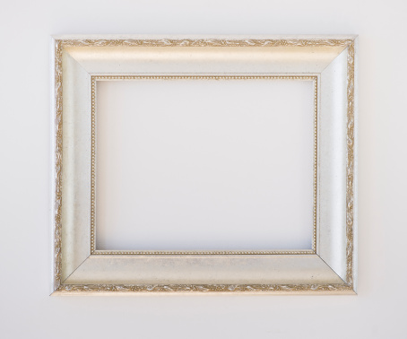 Silver Colored「Close up of empty picture frame, studio shot」:スマホ壁紙(7)