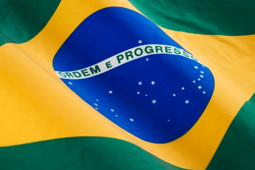 Patriotism「Close up of flag of Brazil」:スマホ壁紙(4)