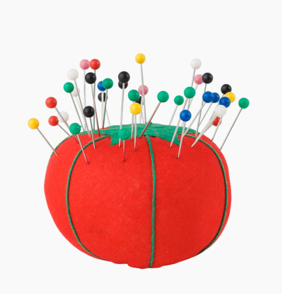 Pin Cushion「Close up of pins in pin cushion」:スマホ壁紙(4)
