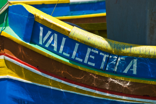 Maltese Islands「Close up of Luzzu fishing boat」:スマホ壁紙(14)