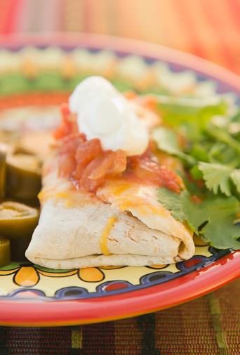 Sour Cream「Close up of Mexican burrito」:スマホ壁紙(15)