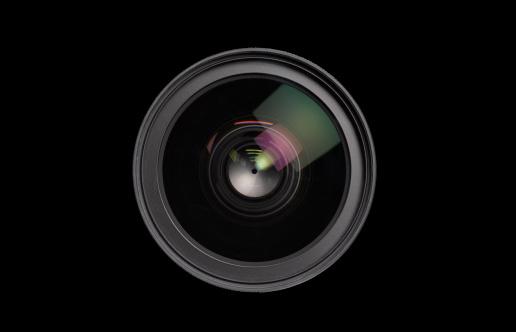 Optical Instrument「Close up of lens on black background」:スマホ壁紙(14)