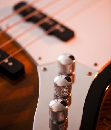 Bass Guitar「Close up of volume knobs of bass guitar」:スマホ壁紙(16)
