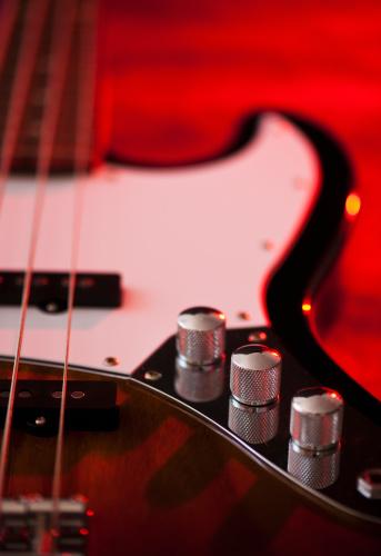 Bass Guitar「Close up of volume knobs of bass guitar」:スマホ壁紙(17)