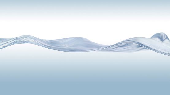 Confidence「Close up of a calm water surface in blue gradation background」:スマホ壁紙(4)