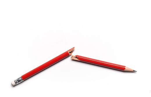 Broken「Close up of broken red pencil with copy space」:スマホ壁紙(8)