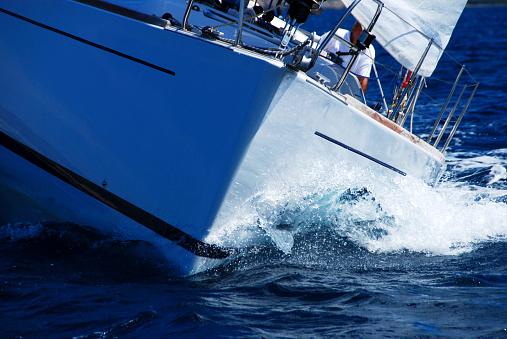 Sailboat「Close up of sailing boat, sail boat or yacht at sea」:スマホ壁紙(19)