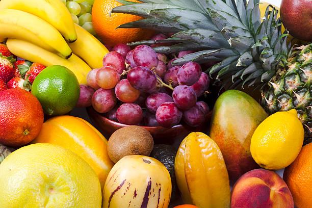 さまざまなフルーツのクローズアップ:スマホ壁紙(壁紙.com)
