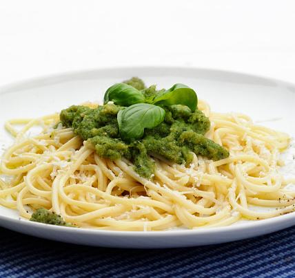 Savory Sauce「Close up of plate of pesto pasta」:スマホ壁紙(18)