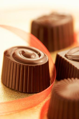 Milk Chocolate「Close up of assorted chocolates」:スマホ壁紙(6)