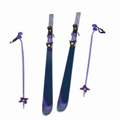 スキー「Close up of skis and  ski poles」:スマホ壁紙(0)