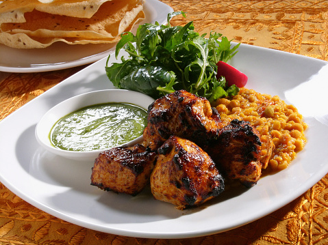 Chicken Tandoori「Close up of chicken tandoori entree」:スマホ壁紙(11)