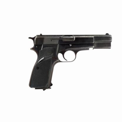 Semi-Automatic Pistol「Close up of a semi-automatic pistol」:スマホ壁紙(3)