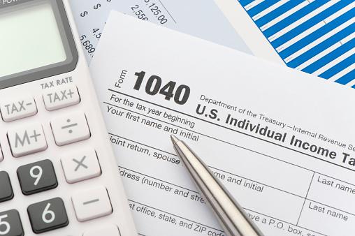 Tax Form「Close up of a Tax return form」:スマホ壁紙(11)