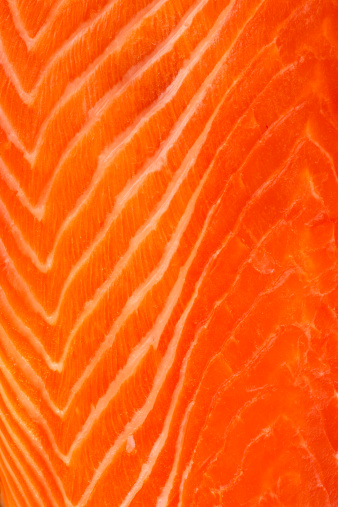 Extreme Close-Up「Close up of raw salmon meat, studio shot」:スマホ壁紙(6)